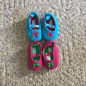 Set of 2 Ralph Lauren Baby Slippers Size 2/Size 3